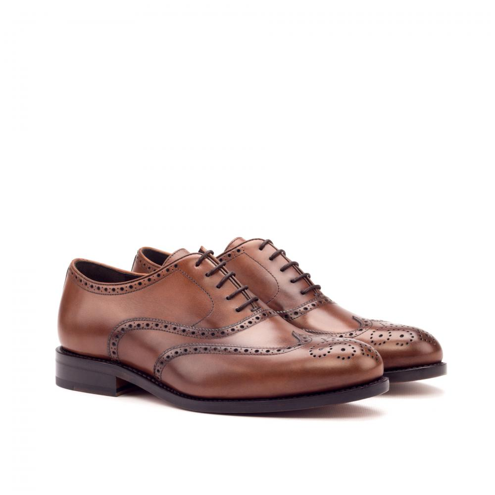Full Brogue goodyear Welted - Painted Calf Med Brown
